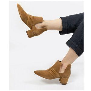 ABLE NWOB Joselyne Cutout Suede Boots Cognac SZ 6